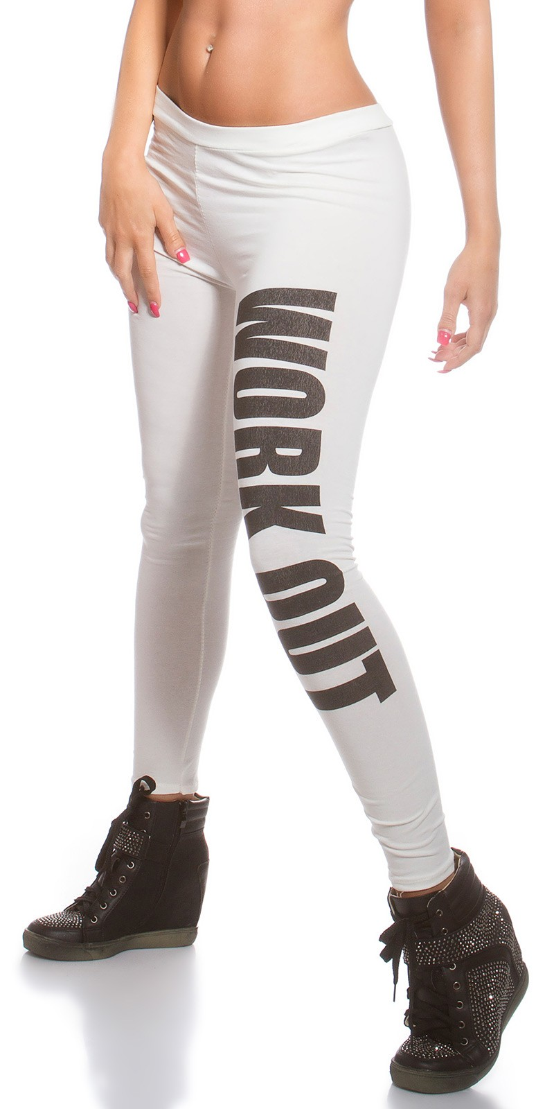Work Out leggings - Fehér (S/M)