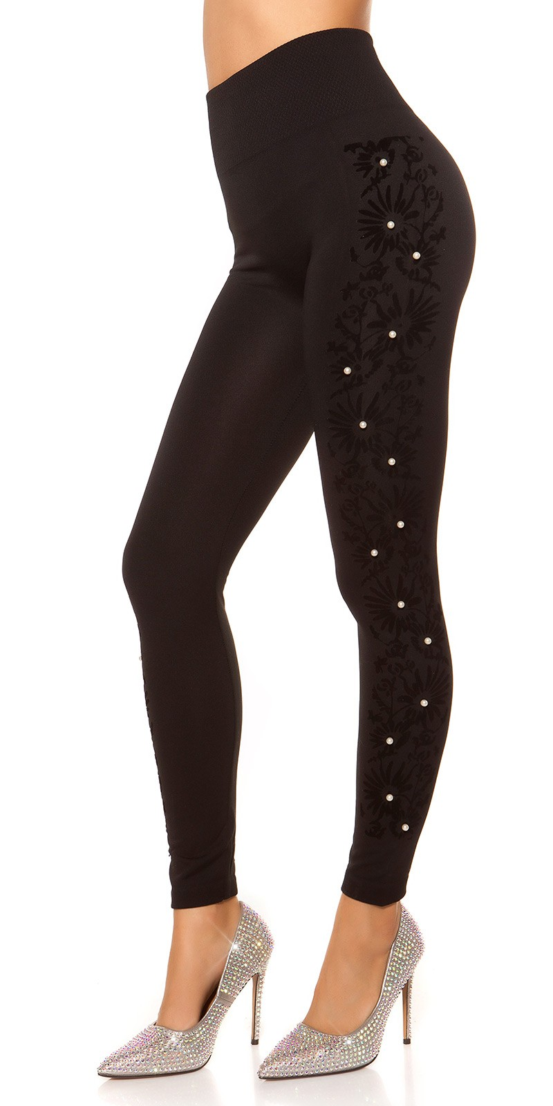 Karcsúsító - magasderekú thermo leggings -  (S/M)