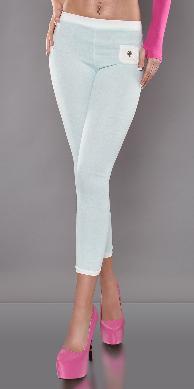 7/8 capri leggings - Menta (L/XL)